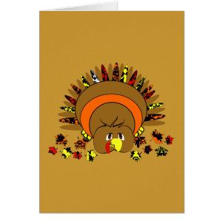 Cute Full Color Turkey Greeting Card