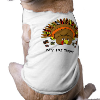 Cute Full Color Turkey Pet Tshirt