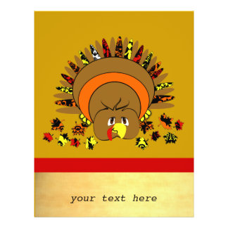 Cute Full Color Turkey Flyers