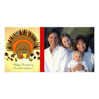 Cute Full Color Turkey Photo Card Template