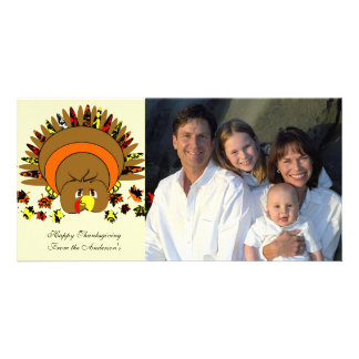Cute Full Color Turkey Photo Greeting Card