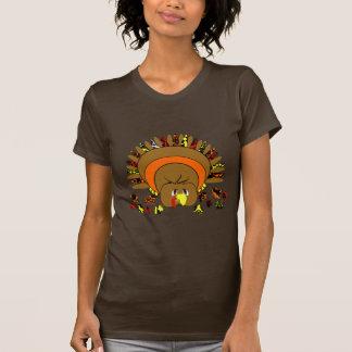 Cute Full Color Turkey T-shirts