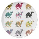 Cute fun camels plate