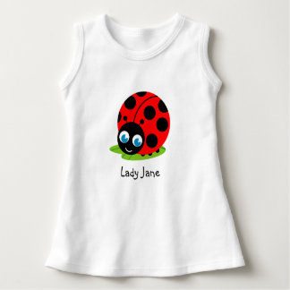 Cute fun cartoon black and red ladybug / ladybird, dress