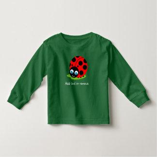 Cute fun cartoon black and red ladybug / ladybird, toddler T-Shirt