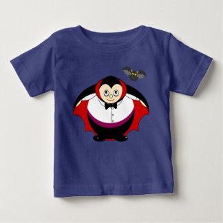 Cute fun cartoon of a Halloween Count Dracula, Baby T-Shirt