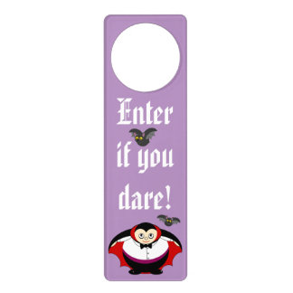 Cute fun cartoon of a Halloween Count Dracula, Door Hanger