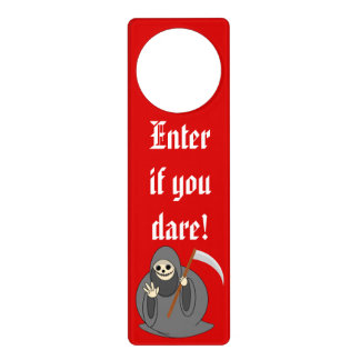 "Cute fun cartoon of a Halloween ""Death"", Door Hanger"