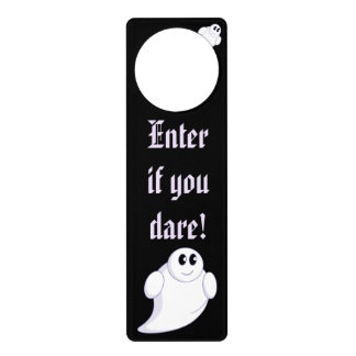 Cute fun cartoon of a Halloween ghost or ghoul, Door Hanger