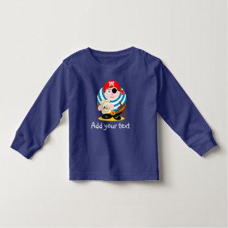 Cute fun cartoon pirate holding a treasure map, toddler T-Shirt