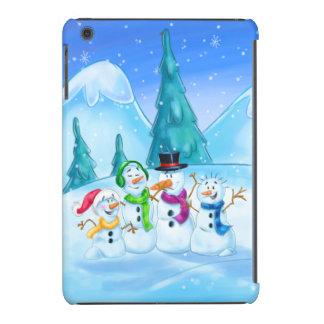 cute fun cartoon snowman iPad cover