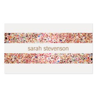 Cute Fun Colorful Confetti Stripes Pack Of Standard Business Cards