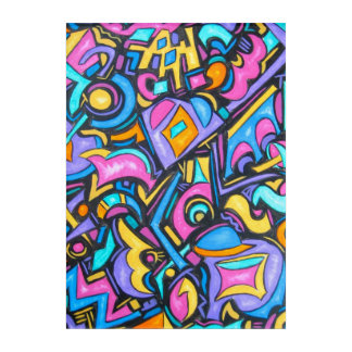 Cute Fun Funky Bold Whimsical Shapes-Abstract Art