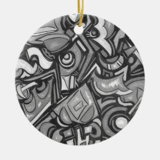 Cute Fun Funky  Bold Whimsical Shapes Ceramic Ornament