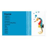 Cute Fun  Modern Sea horse Blowing Bubbles Business Card Template