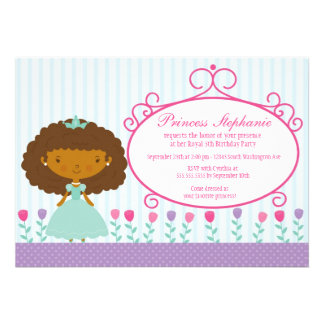 Cute fun princess girl s birthday party invitation