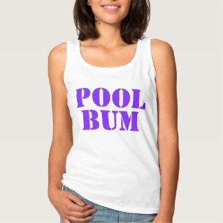Cute Fun Summer Pool Bum Text Singlet