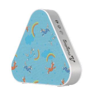 Cute Fun Unicorns rainbow blue cartoon pattern