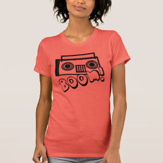 Cute Funky Boombox with BOOM T-Shirt