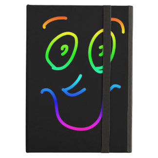 Cute Funky Colorful Rainbow Smiley Face iPad Air Cover