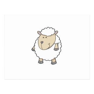 Cute funny adorable sheep monogram postcard