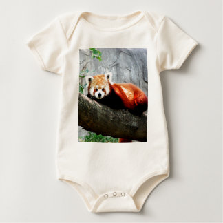cute funny animal red panda baby bodysuit