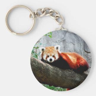 cute funny animal red panda key ring