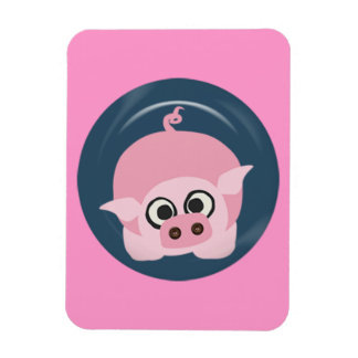 CUTE FUNNY BABY PIG PIGLET PINK BLUE  FARM CARTOON MAGNETS