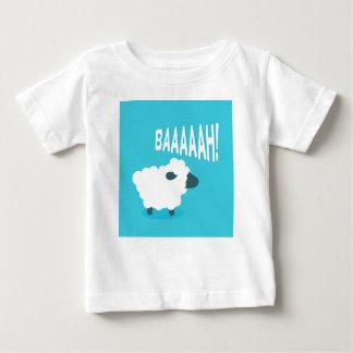 Cute funny blue cartoon bleating sheep baby T-Shirt