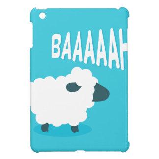 Cute funny blue cartoon bleating sheep iPad mini cases