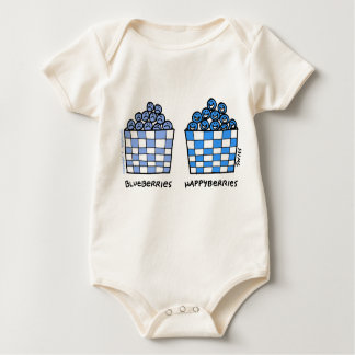 Cute Funny Blueberries Happyberries Baby Outerwear Baby Bodysuit