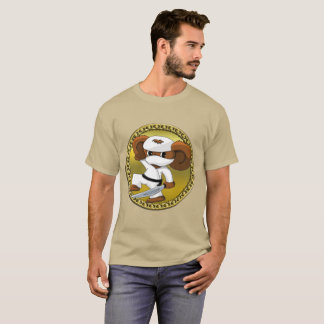 Cute funny cartoon Cheburashka bear with a sword T-Shirt
