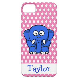 Cute Funny Cartoon Elephant Personalized Pink iPhone 5 Covers