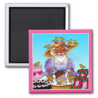 Cute funny cat Marie Antoinette magnet