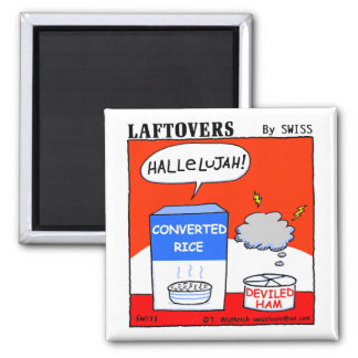Cute Funny Christian Hallelujah Laftovers Cartoon Square Magnet