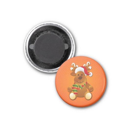 Cute & Funny Christmas Reindeer Magnet
