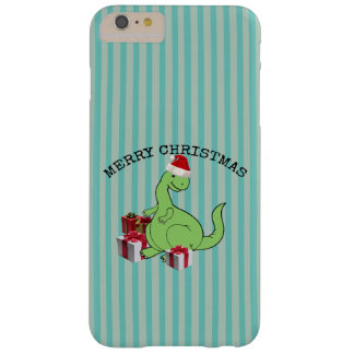 Cute funny  Christmas Santa dinosaur Barely There iPhone 6 Plus Case