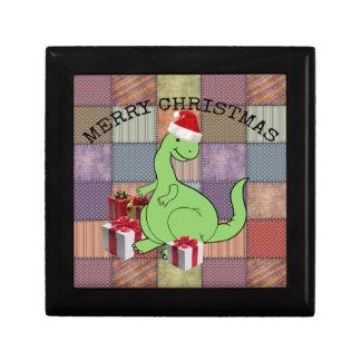 Cute funny  Christmas Santa dinosaur Gift Box