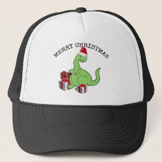 Cute funny  Christmas Santa dinosaur Trucker Hat