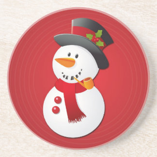 Cute & Funny Christmas Snowman Drink Coasters