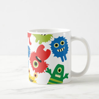 Cute Funny Colorful Monsters Pattern Coffee Mugs