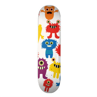 Cute Funny Colorful Monsters Pattern Skate Board