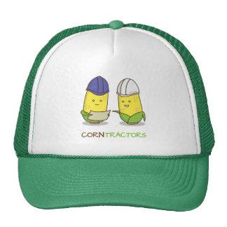 Cute Funny Corn Contractors Punny Humor Trucker Hat