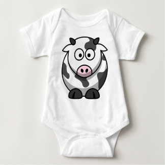 Cute Funny Cow Baby Bodysuit