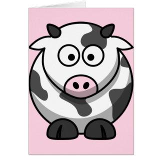 Cute Funny Cow Card