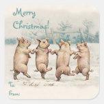 "Cute Funny Dancing Pigs ""Merry Christmas"" Package"