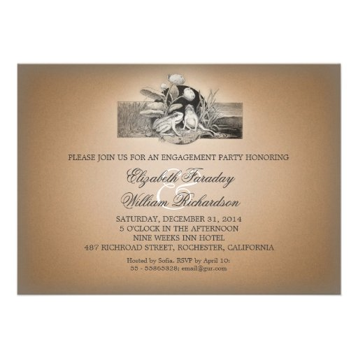 cute funny design engagement party invitations