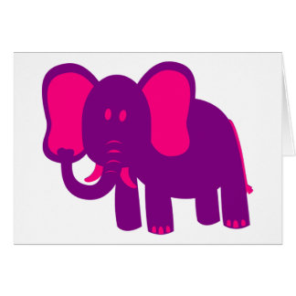 Cute Funny Elephant Card