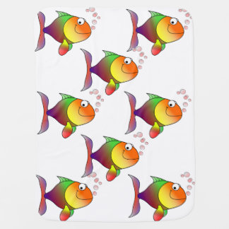Cute Funny Fish - Colorful Baby Blanket