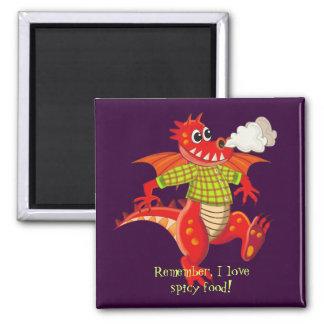 Cute funny fridge cartoon magnet with Dragon